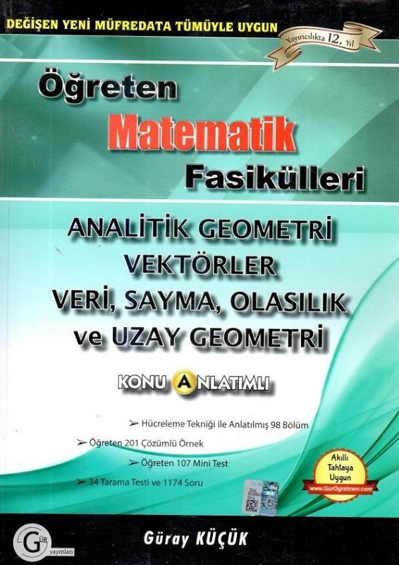 12.sınıf model analitik geo.vektörler veri sayma olasılık Gür Yayınları