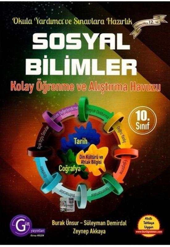10.sınıf sosyal bilimler Set Gür Yayınları