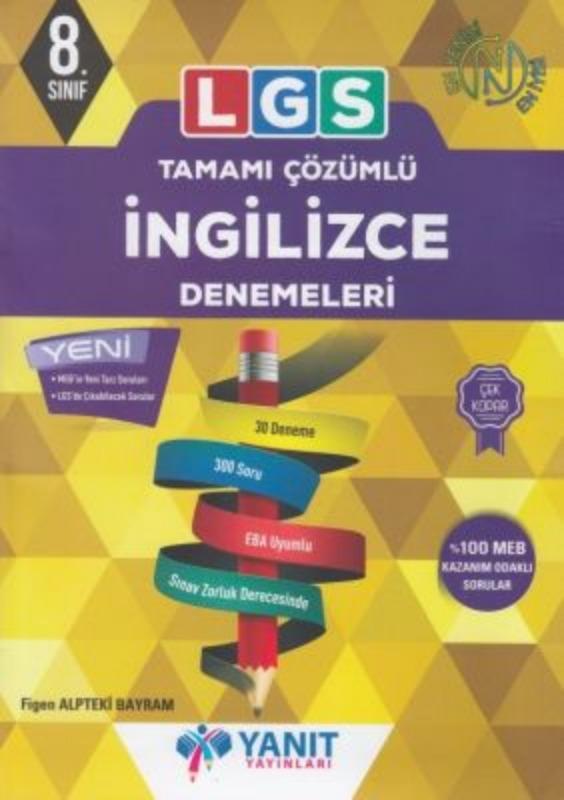 LGS Tamamı Çözümlü İngilizce Denemeleri Yanıt Yayınları