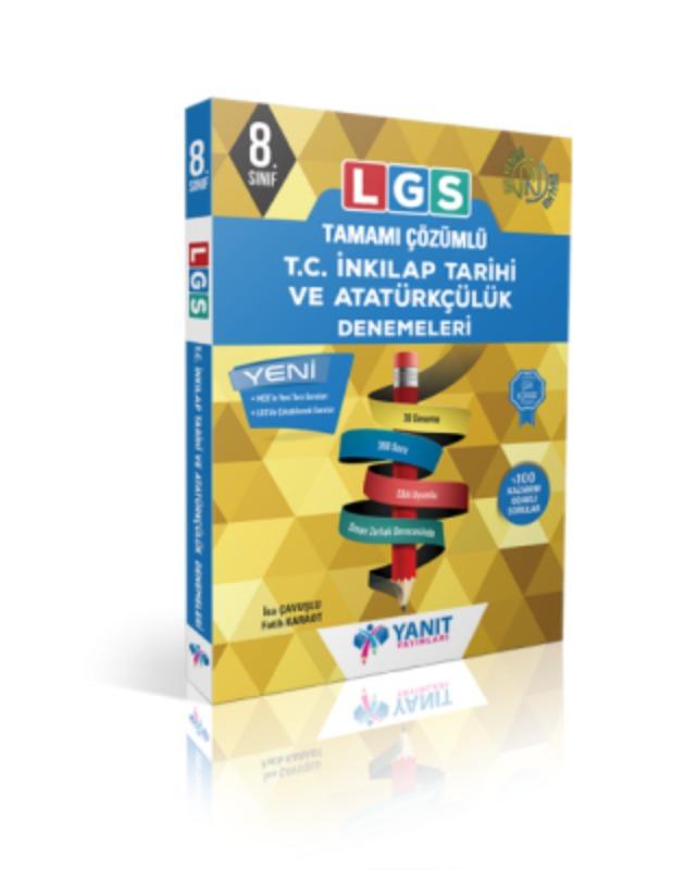 LGS Tamamı Çözümlü T.C. İnkılap Tarihi ve Atatürkçülük Denemeleri Yanıt Yayınları