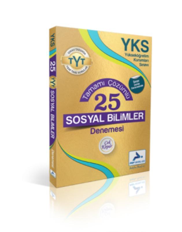 YKS Tamamı Çözümlü 25 Sosyal Bilimler Denemesi Paraf Yayınları