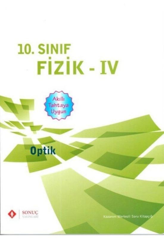 10.Sınıf Fizik IV Optik Sonuç Yayınları