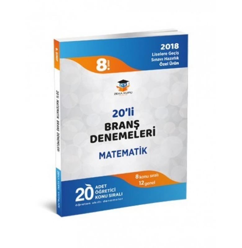 Zeka Küpü Yayınları 8.Sınıf LGS Matematik 20'li Branş Denemeleri