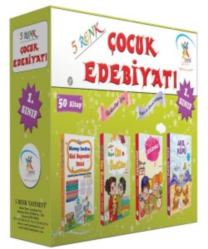 1. Sınıf Çocuk Edebiyatı (50 Kitap) 5Renk Yayınları