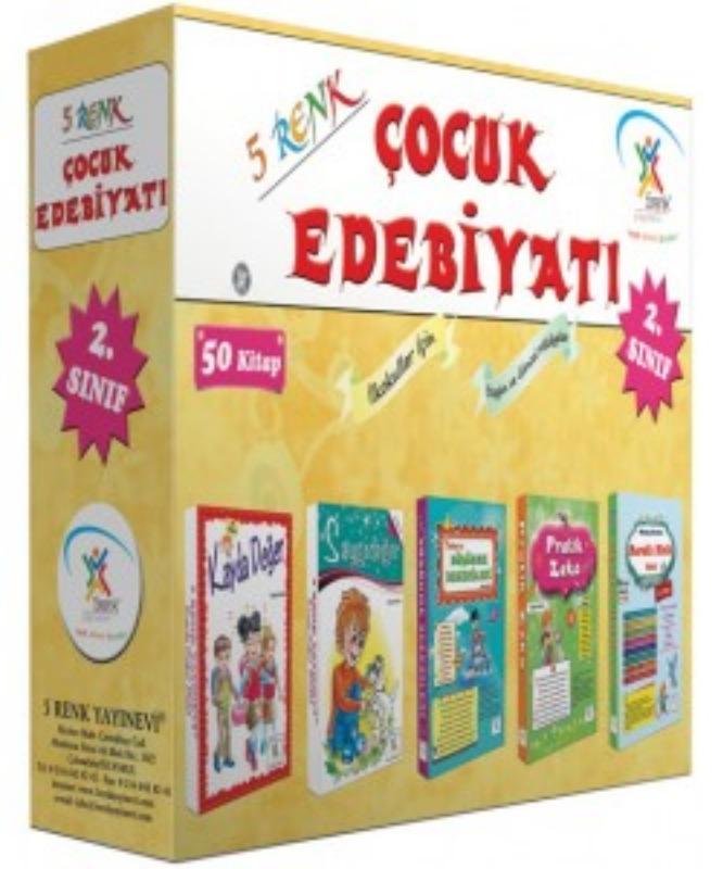 2. Sınıf Çocuk Edebiyatı (50 Kitap) 5Renk Yayınları