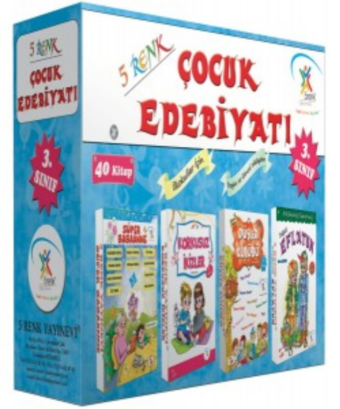 3. Sınıf Çocuk Edebiyatı (40 Kitap) 5Renk Yayınları