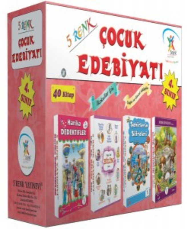 4. Sınıf Çocuk Edebiyatı (40 Kitap) 5Renk Yayınları