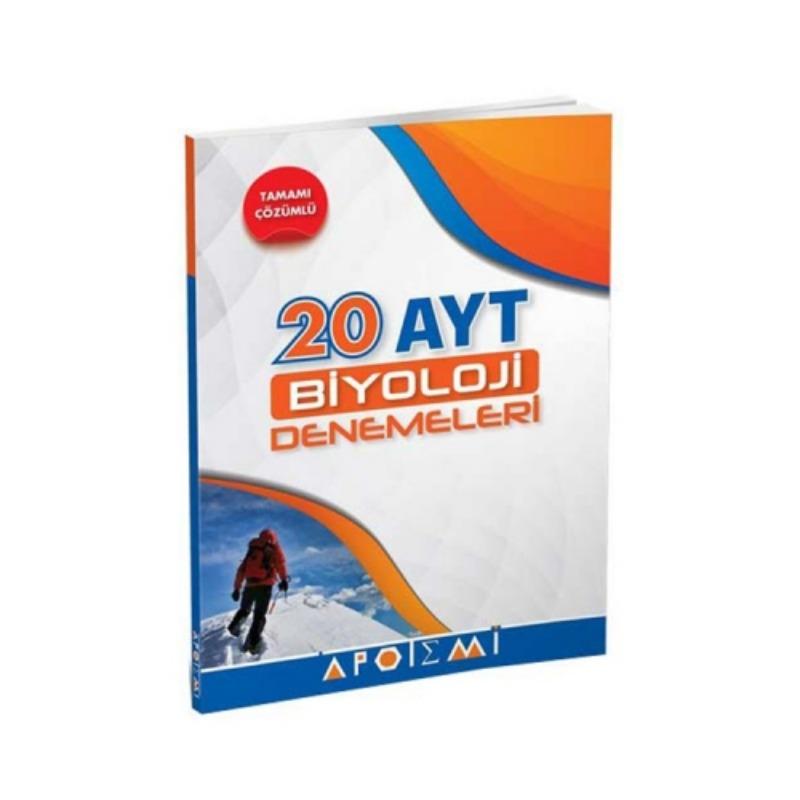 Apotemi Yayınları YKS 2. Oturum AYT Biyoloji Tamamı Çözümlü 20 Denemeleri