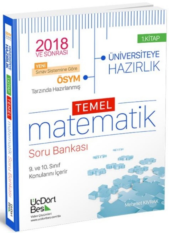 ÜçDörtBes Yayinlari TYT 1. Oturum YKS Temel Matematik Soru Bankasi 1. Kitap