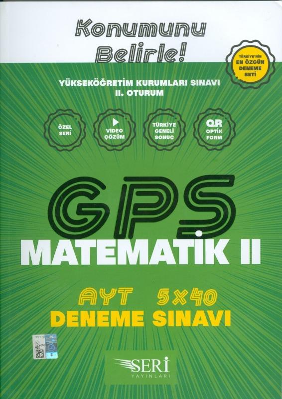 GPS AYT Matematik 2 5x40 Deneme Sınavı Seri Yayınları