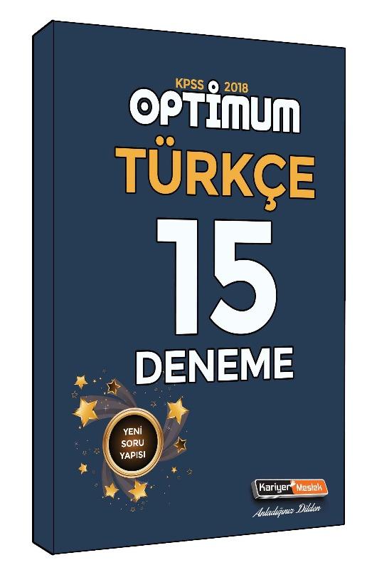 KPSS Optimum Türkçe 15 Deneme Sınavı Kariyer Meslek Yayınları