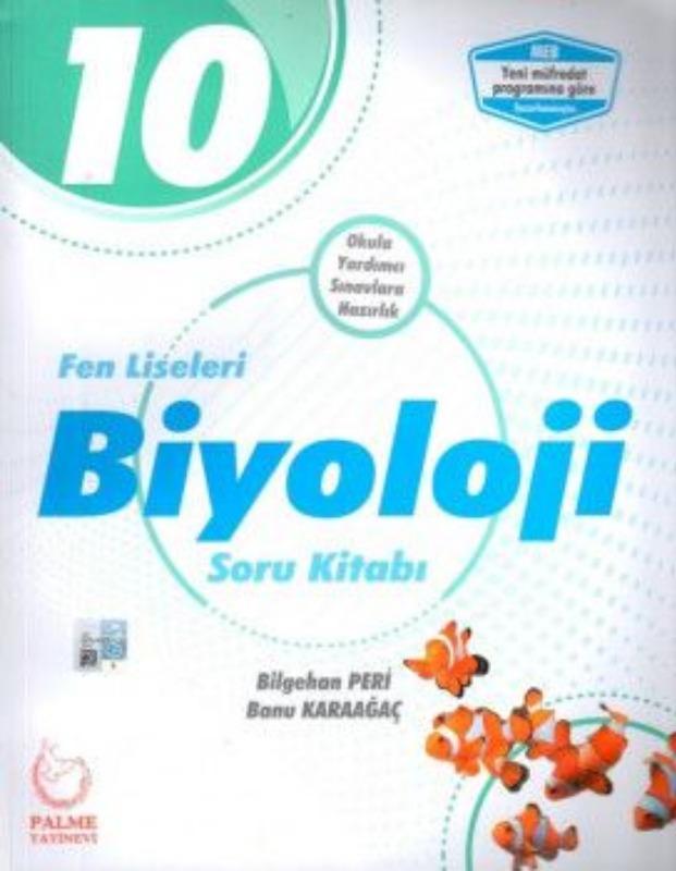 10. Sınıf Fen Liseleri Biyoloji Soru Kitabı Palme Yayınları