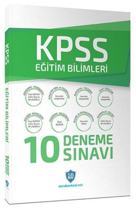 KPSS Eğitim Bilimleri Çözümlü 10 Deneme Sınavı Soru Bankası Net Yayınları