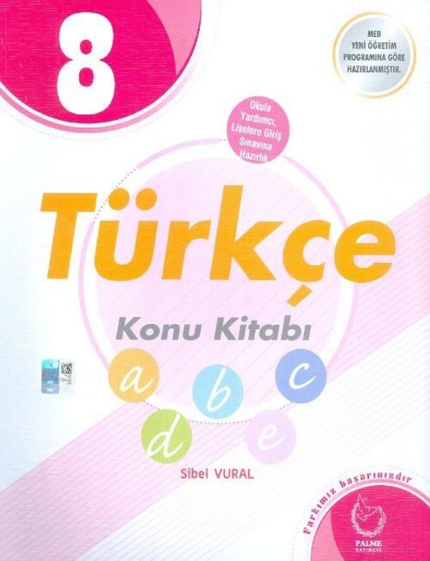 8. Sınıf Türkçe Konu Kitabı Palme Yayınları