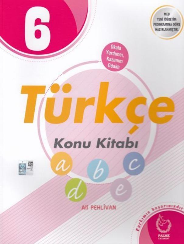6. Sınıf Türkçe Konu Kitabı Palme Yayınları