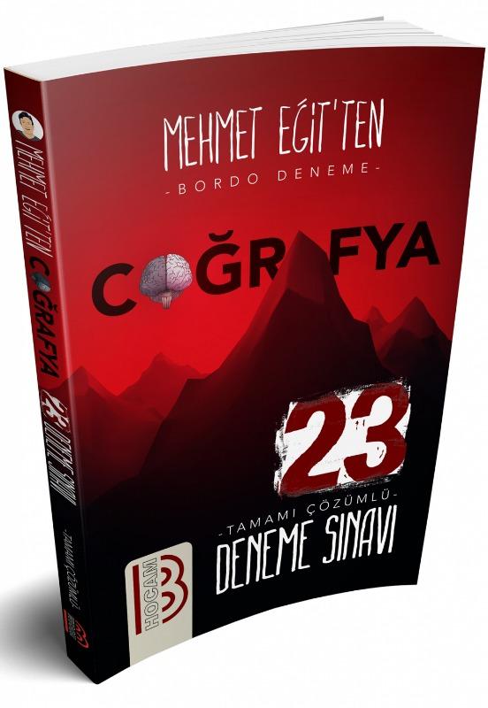 Benim Hocam Yayınları Coğrafya Tamamı Çözümlü 23 Bordo Deneme
