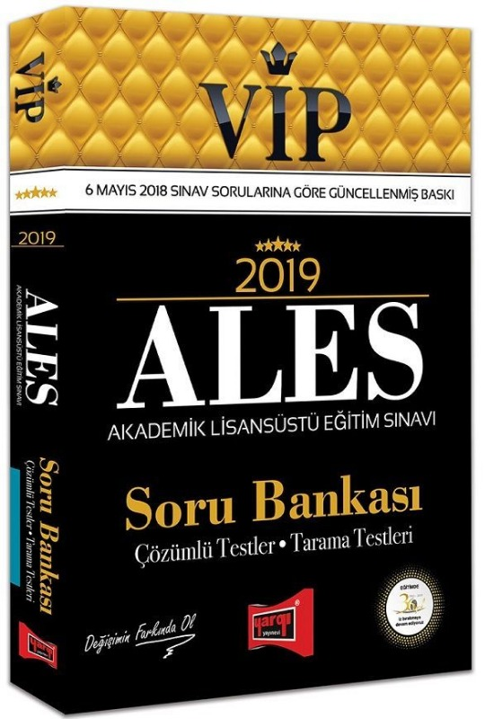 Yargı Yayınları 2019 ALES VIP Soru Bankası