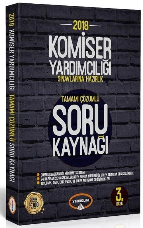 Yediiklim Yayınları  Komiser Yardımcılığı Sınavlarına Hazırlık Tamamı Çözümlü Soru Kaynağı 3. Baskı