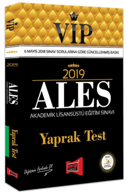 Yargı Yayınları 2019 ALES VIP Yaprak Test