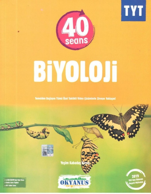 Okyanus Yayinlari TYT 40 Seansta Biyoloji Kitap