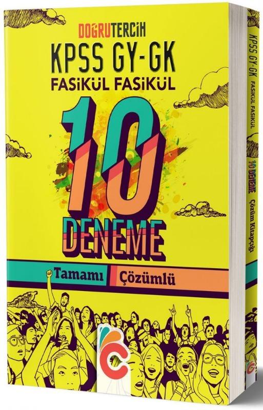 KPSS Genel Yetenek Genel Kültür Fasikül Fasikül Çözümlü 10 Deneme Doğru Tercih Yayınları