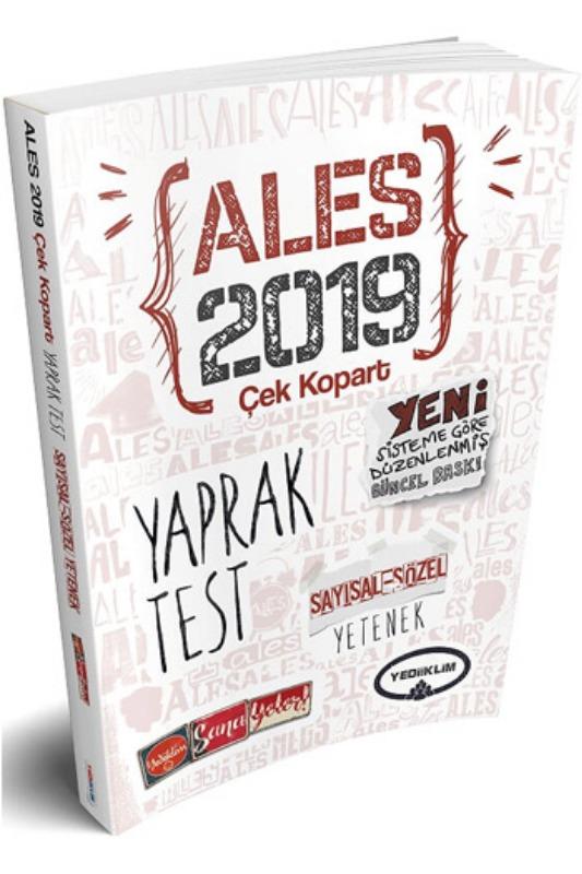 Yediiklim Yayınları  ALES Sayısal Sözel Yetenek Çek Kopart Yaprak Test