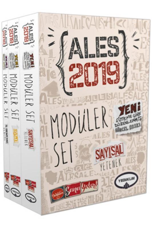Yediiklim Yayınları  ALES Sayısal Sözel Yetenek Konu Anlatımlı Modüler Set