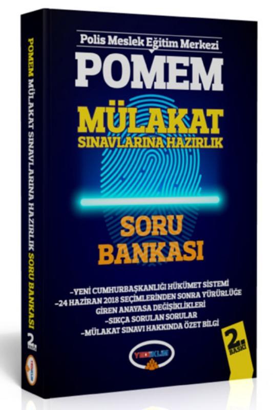 Yediiklim Yayınları POMEM Mülakat Sınavlarına Hazırlık Soru Bankası 2. Baskı