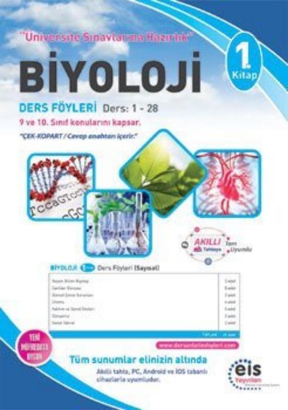 BİYOLOJİ  1. Kitap  Üniversite Sınavlarına H. Ders Anlatım Föyleri Eis Yayınları