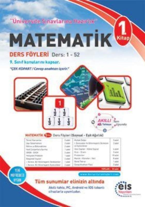 MATEMATİK  1. Kitap Üniversite Sınavlarına H. Ders Anlatım Föyleri Eis Yayınları