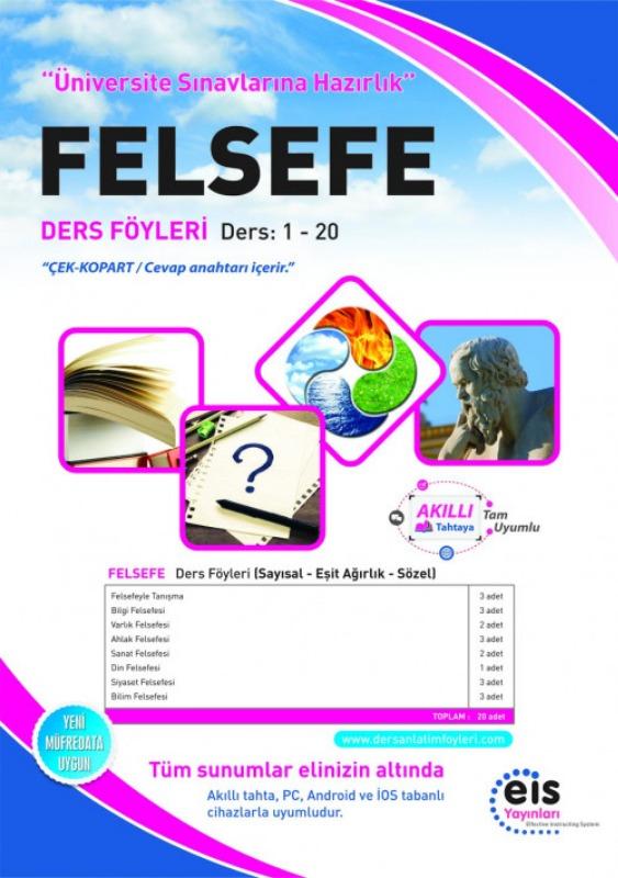 FELSEFE Üniversite Sınavlarına H. Ders Anlatım Föyleri Eis Yayınları