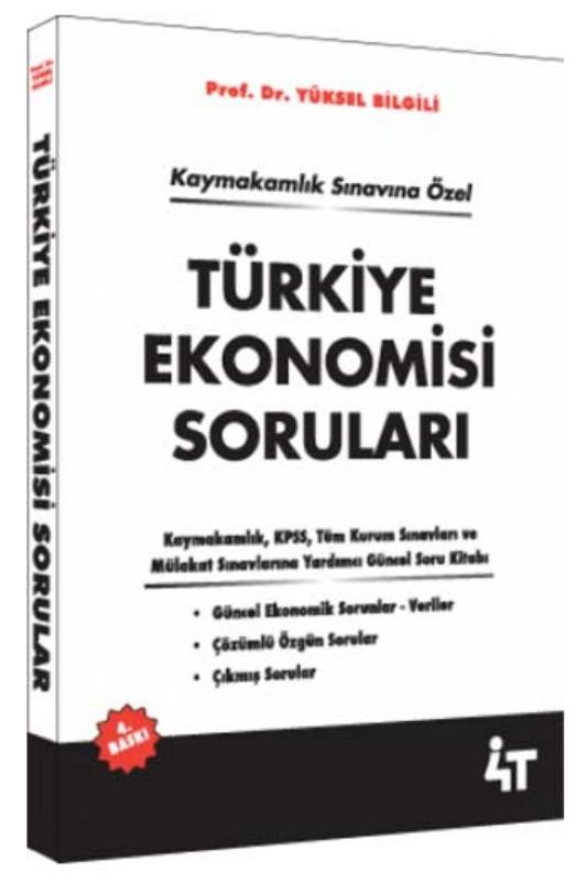 4T Yayınları Türkiye Ekonomisi Soruları