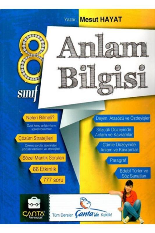 Çanta Yayınları 8. Sınıf Anlam Bilgisi Soru Bankası