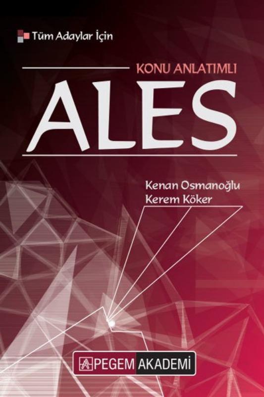 2019 Tüm Adaylar İçin ALES Konu Anlatımlı Pegem Yayınları