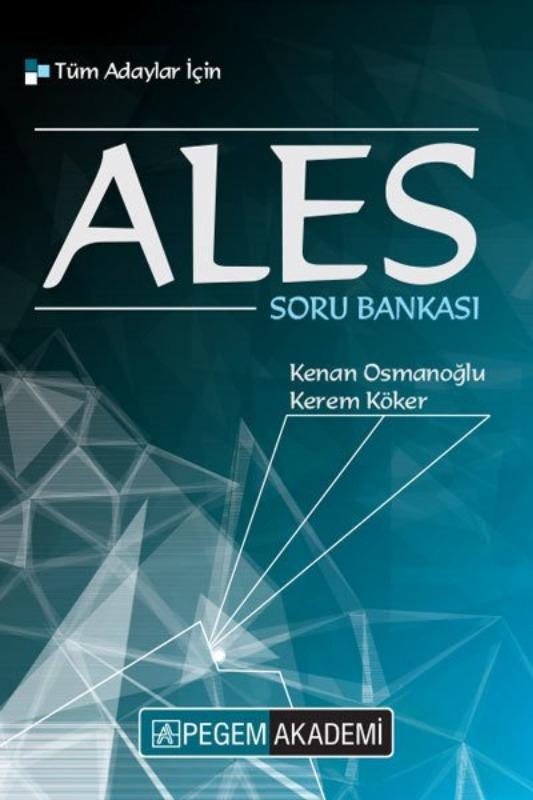 2019 ALES Tüm Adaylar İçin Soru Bankası Pegem Yayınları