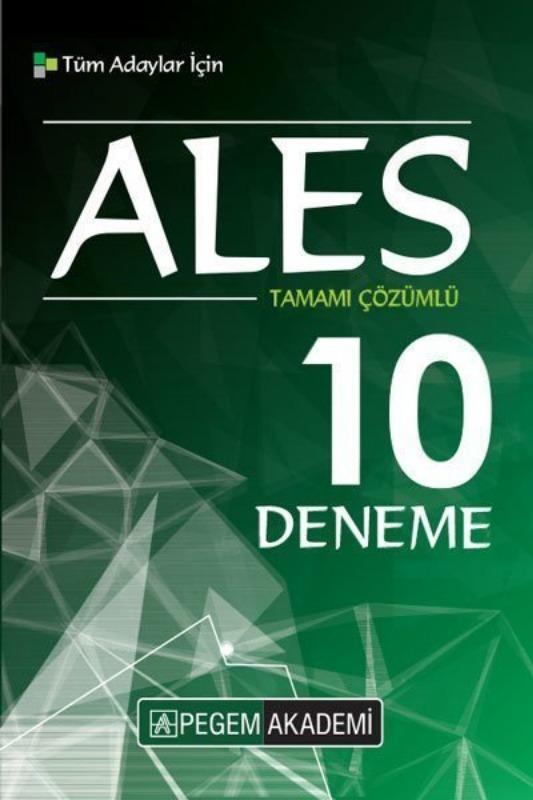 2019 ALES Tamamı Çözümlü 10 Deneme Pegem Yayınları