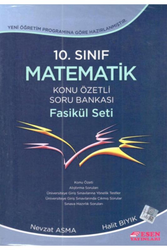 Esen Yayinlari 10. Sinif Matematik Konu Özetli Soru Bankasi Fasikül Seti