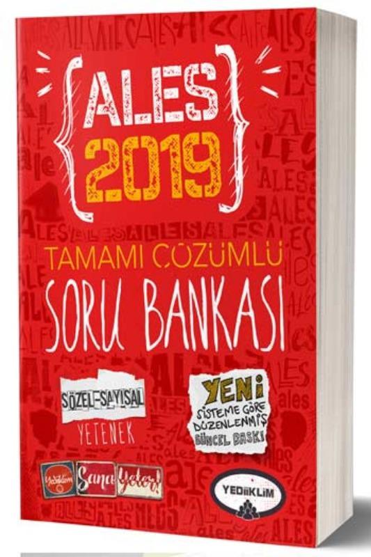 Yediiklim Yayınları 2019 ALES Tamamı Çözümlü Soru Bankası