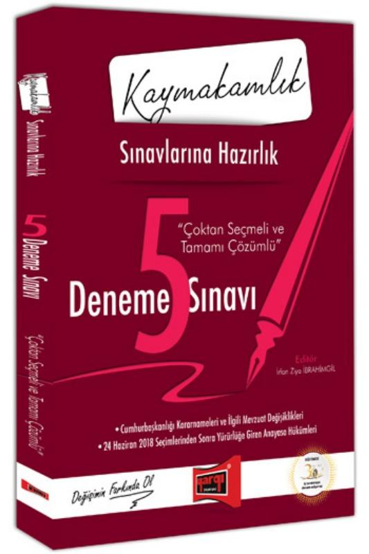 Yargı Yayınları Kaymakamlık  Çoktan Seçmeli ve Tamamı Çözümlü 5 Deneme Sınavı