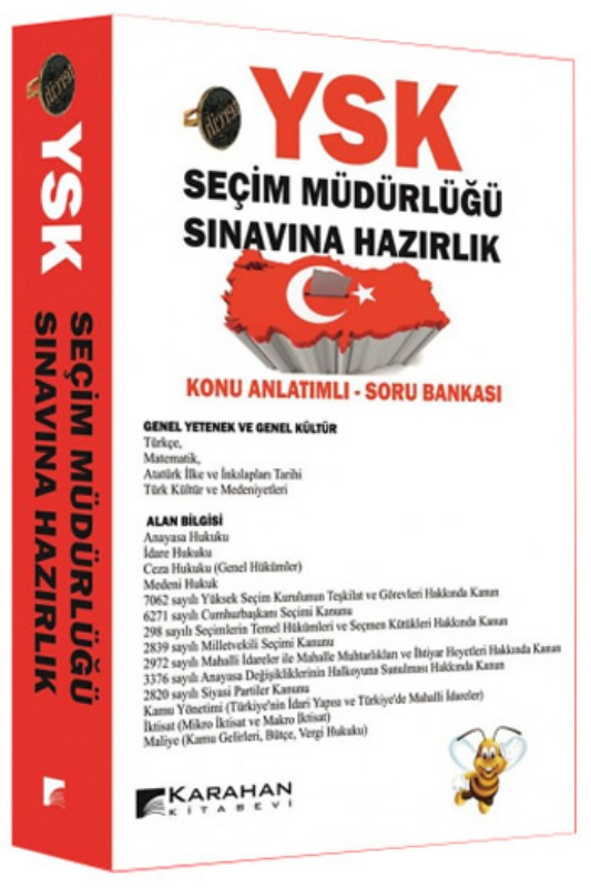 Karahan Kitabevi YSK Seçim Müdürlüğü Sınavına Hazırlık Konu Anlatımlı Soru Bankası