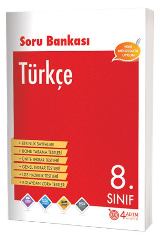 4 Adım Yayınları 8. Sınıf Türkçe Soru Bankası