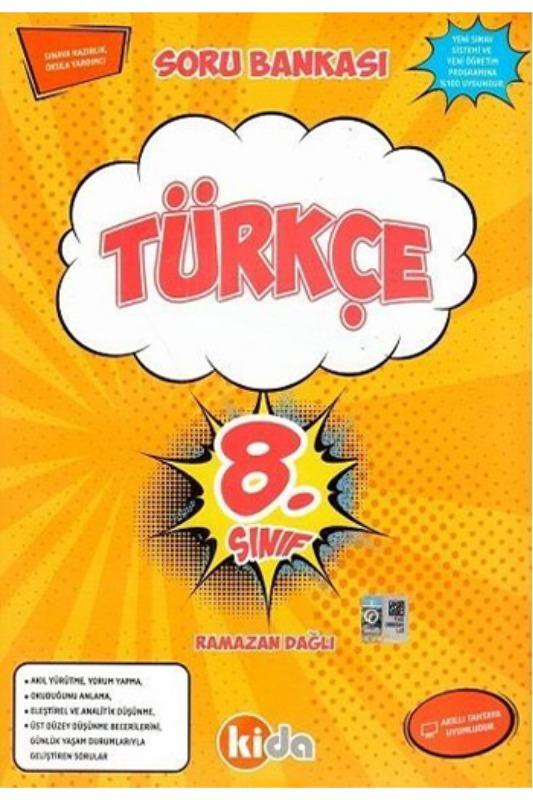 Kida Yayınları 8. Sınıf Türkçe Soru Bankası