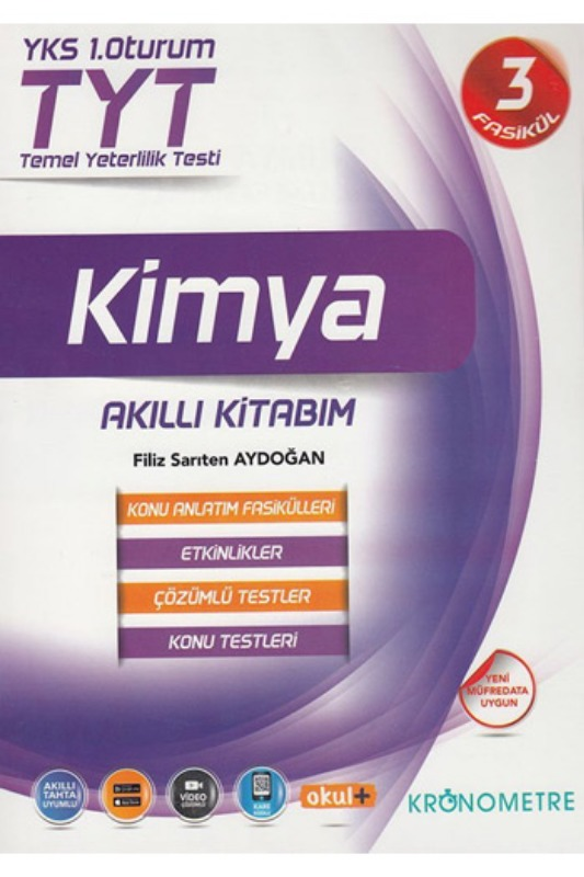 Kronometre Yayınları TYT Kimya Akıllı Kitabım Konu Anlatım Fasikülleri