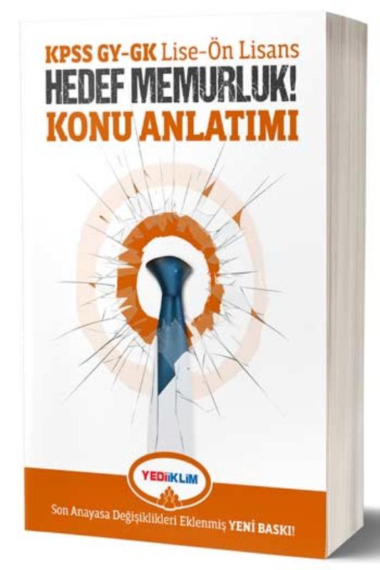 Yediiklim Yayınları KPSS Lise-Ön Lisans GYGK Hedef Memurluk Konu Anlatımı