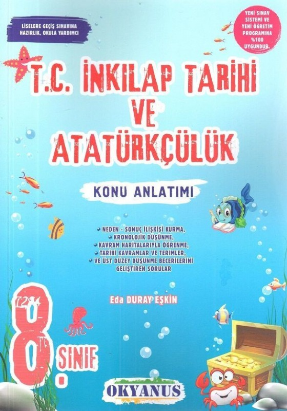 8.Sınıf T.C. İnkılap Tarihi ve Atatürkçülük Konu Anlatımı Okyanus Yayınları