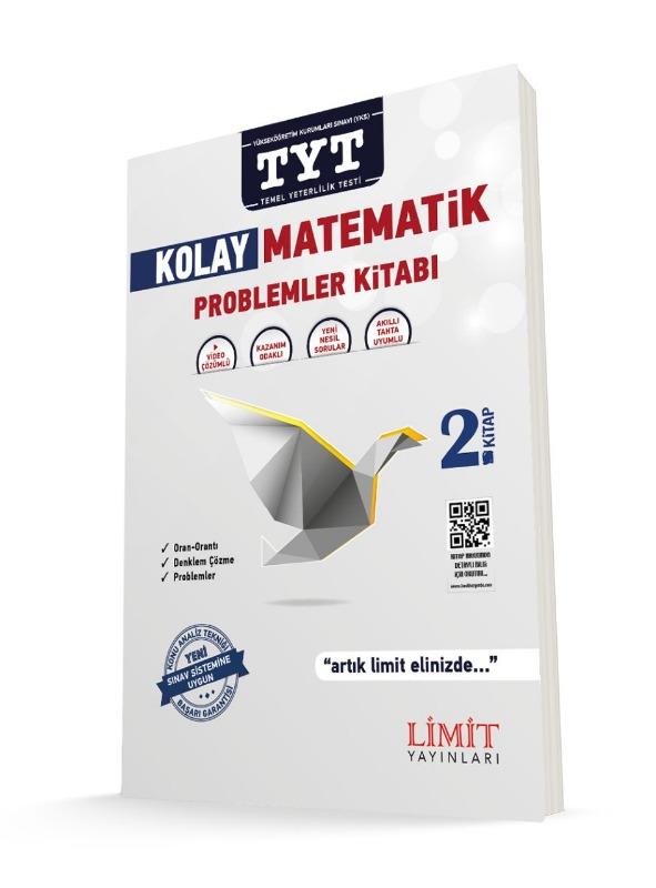 YKS 1.Oturum TYT Kolay Matematik 2.Kitap Problemler Kitabı Limit Yayınları