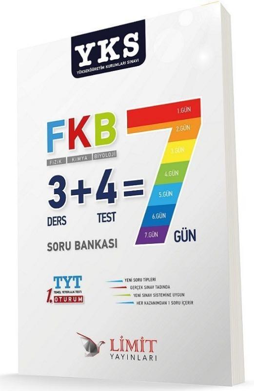 YKS TYT 1.Oturum Fizik Kimya Biyoloji Soru Bankası Limit Yayınları