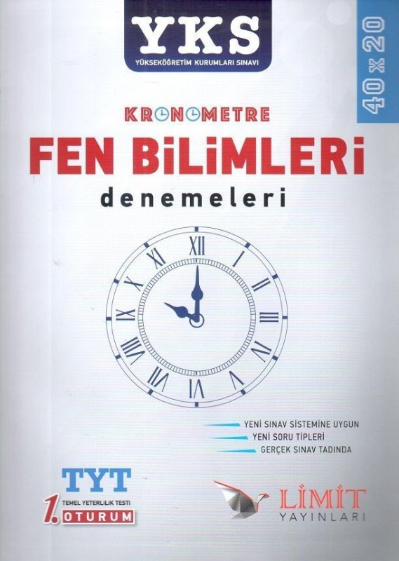 YKS 1.Oturum Kronometre Fen Bilimleri 40x20 Denemeleri Limit Yayınları
