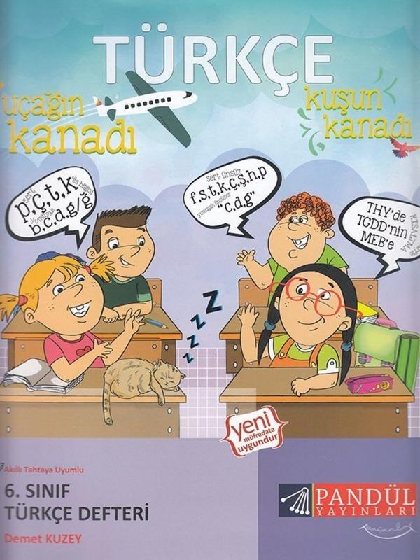 6.Sınıf Türkçe Defteri Pandül Yayınları