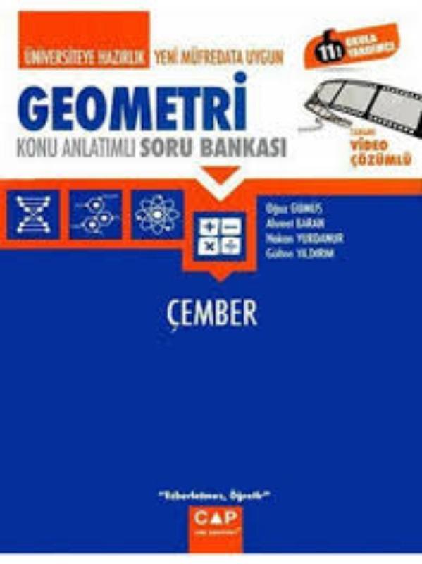 Çap Yayınları Üniversiteye Hazırlık Geometri Çember Konu Analtımlı Soru Bankası